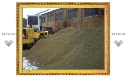 В Туле задерживается заготовка песко-соляной смеси