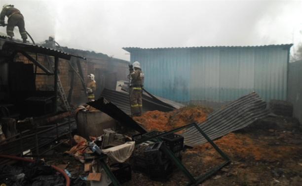 Причина пожара в Щекино пока не установлена
