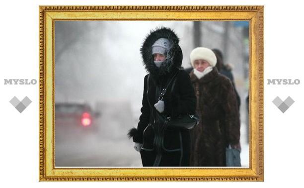 В Туле прекратится снег и усилятся морозы