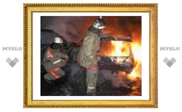 Под Тулой подожгли машину?