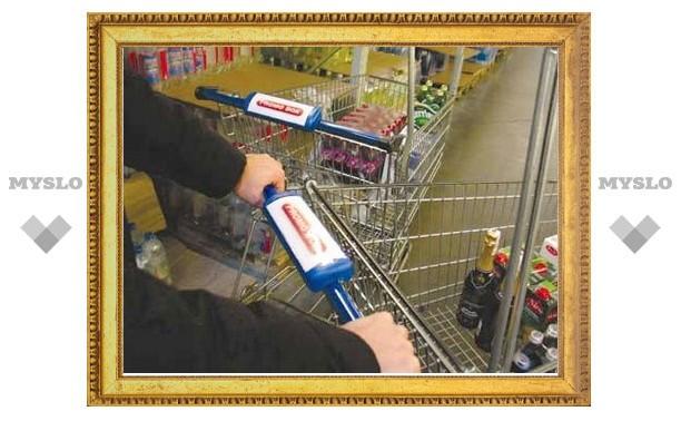В гипермаркете в Ленинском районе Тульской области украли продуктовую тележку