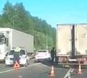 Под Тулой грузовик догнал Ford Fiesta: пострадала женщина. Видео