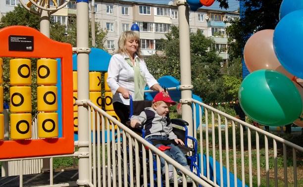 Tele2 подарила игровую площадку малышам с ограниченными возможностями