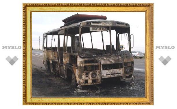Под Тулой сгорел автобус
