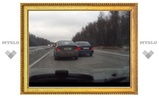 """Неадекватные водители под Тулой устроили """"игры"""" на скоростной трассе"""