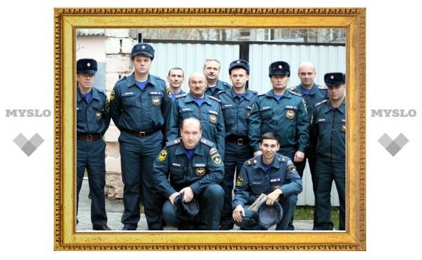 В Туле наградили сотрудников МЧС