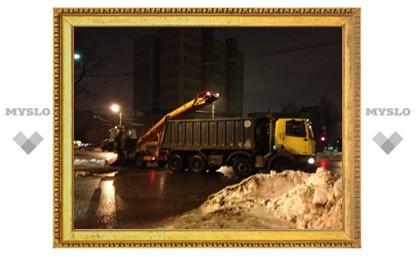 С улиц Тулы вывезено две тысячи кубометров снега