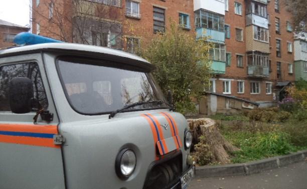 В Щекино жильцы загоревшегося дома потушили огонь до приезда пожарных
