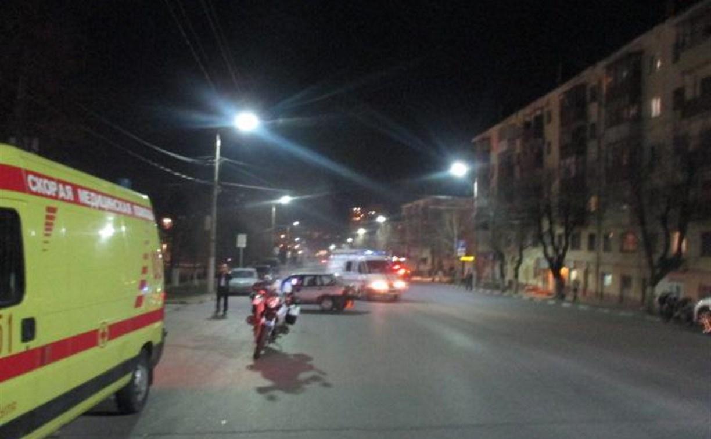 На выходных в ДТП в Туле пострадали двое мотоциклистов