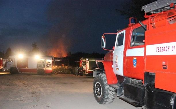 В Ефремовском районе сгорел дом