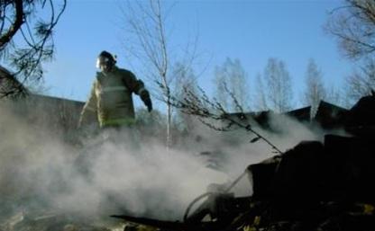 В Арсеньевском районе сгорел дом и сарай
