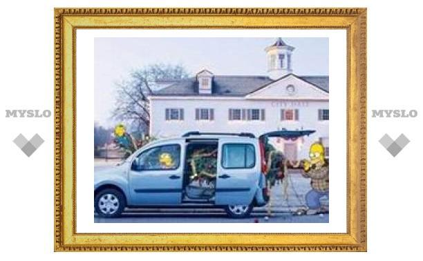 Симпсоны оригинально отрекламируют новый Renault Kangoo