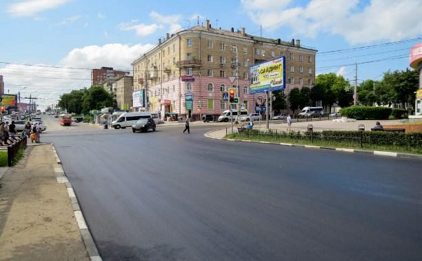 В Туле приступили к асфальтированию улицы М. Горького