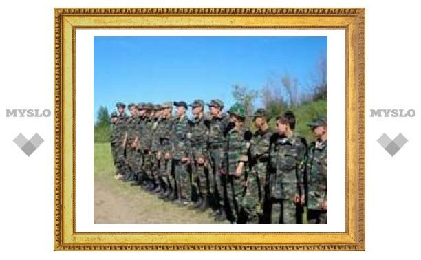 Юные туляки уезжают из военного лагеря