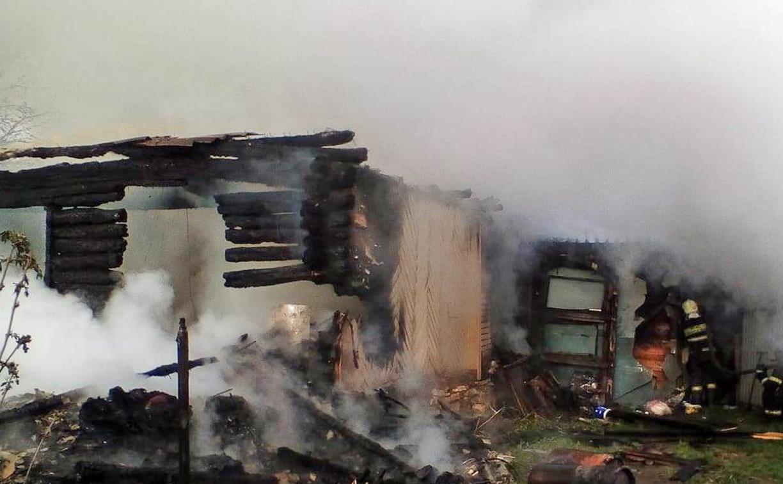 На пожаре в Веневском районе пострадала пенсионерка