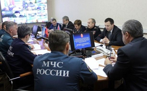 В Туле обсудили вопросы обеспечения безопасности в регионе в зимний период