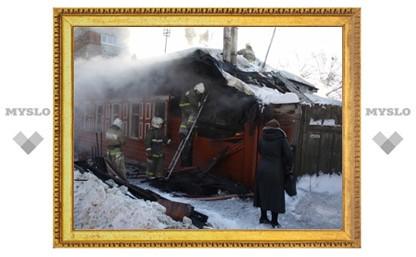 Жилой дом в Туле сгорел из-за неисправного холодильника