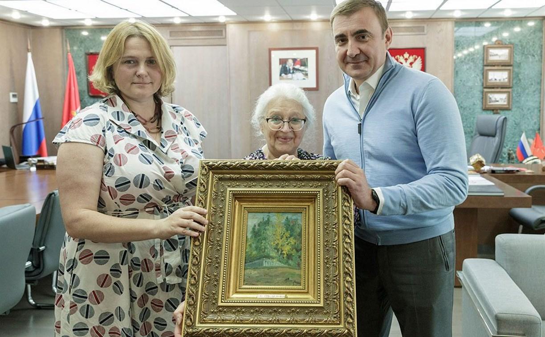 Алексей Дюмин подарил музею-заповеднику В. Д. Поленова картину художника