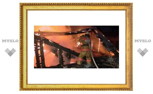 Тульская пенсионерка сгорела в собственном доме
