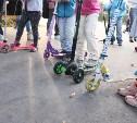 Туляки «погоняли» на самокатах в Центральном парке