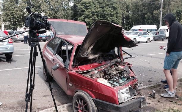 Около бывшего артучилища произошло ДТП с семью автомобилями