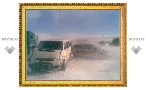 Под Тулой столкнулись сразу 34 автомобиля