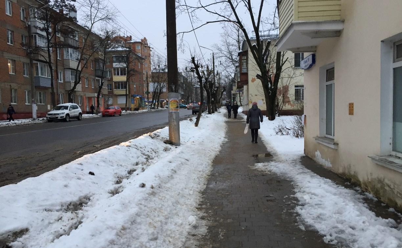 С начала зимы от туляков поступило 84 обращения по поводу расчистки улиц от снега