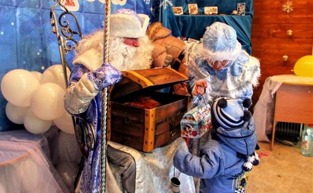 В Белоусовском парке появилась резиденция Деда Мороза