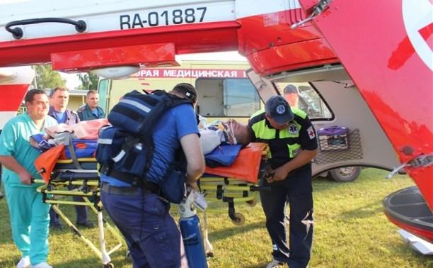 Пострадавшего в ДТП в Венёвском районе на вертолёте эвакуировали в столичную клинику
