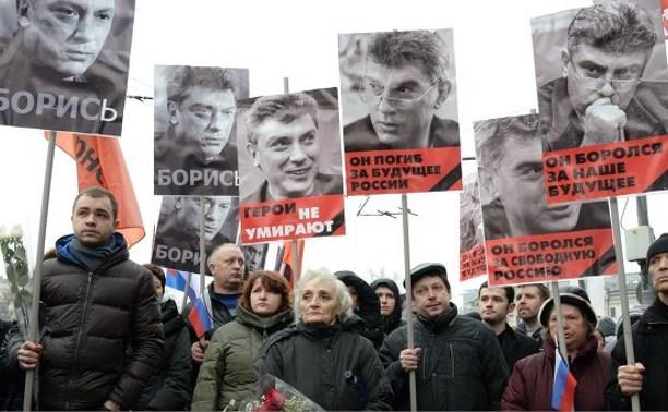 Туляки почтили память Бориса Немцова на марше памяти в Москве