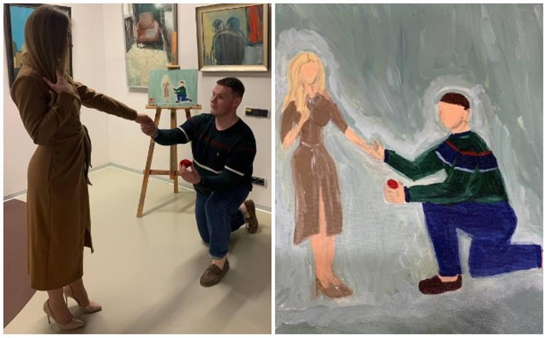 Картина, питерский музей и заветное «да»: туляк сделал своей девушке креативное предложение руки и сердца