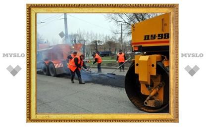 В Туле не смогли вовремя заасфальтировать дорогу на улице М. Горького