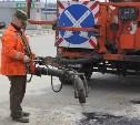 В Туле продолжается аварийно-восстановительный ремонт дорог методом пневмонабрызга