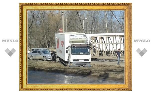 На улице Рязанской произошло крупное ДТП