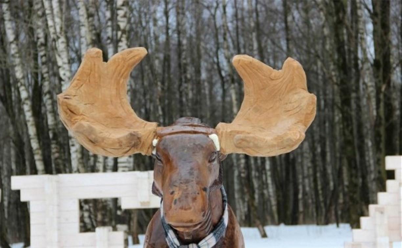 Деревянному лосю на въезде в Тулу восстановили рога