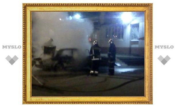 В Ефремове сгорели «Жигули»
