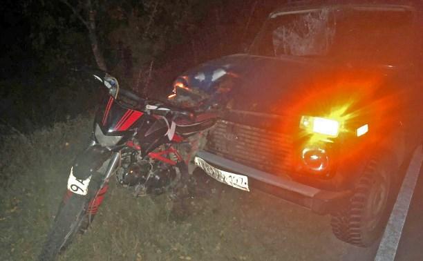 В Алексинском районе погиб несовершеннолетний мотоциклист