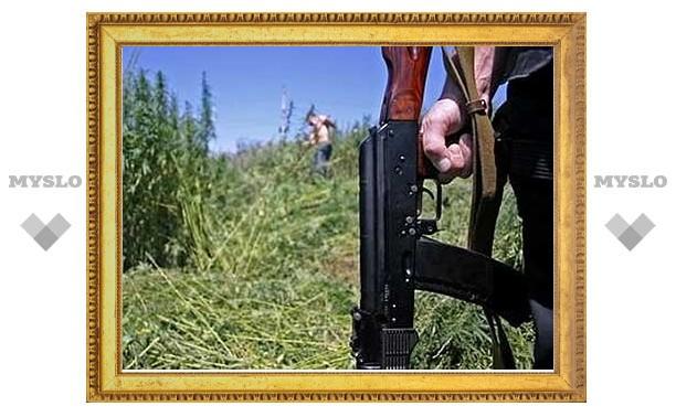 Торговцы оружием погорели на марихуане