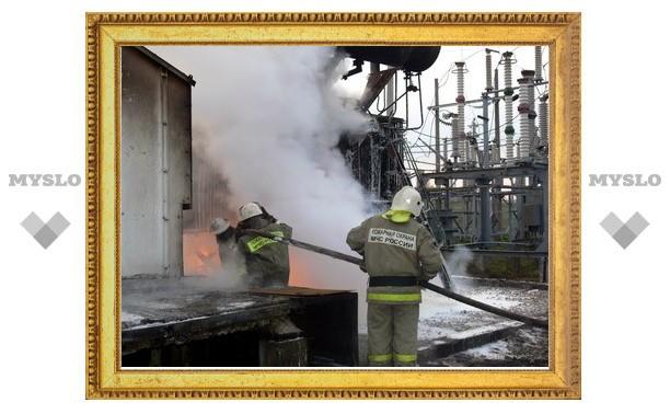 На электроподстанции в Плавске произошел пожар