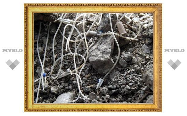 Чем оказались капельницы, найденные в Детском парке Новомосковска?