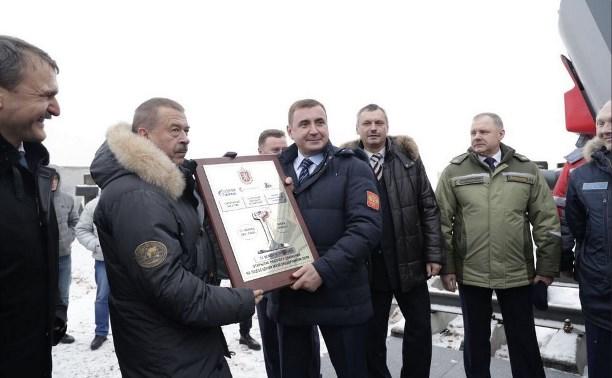 В индустриальном парке «Узловая» открыли первую железнодорожную ветку