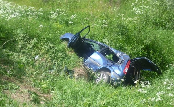 Автоледи на «Форде» вылетела в кювет