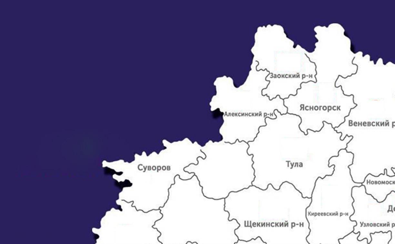 В каких районах Тульской области распространился коронавирус: актуальная карта на 20 апреля