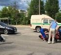 На Демидовской плотине мотоциклист сбил пешехода