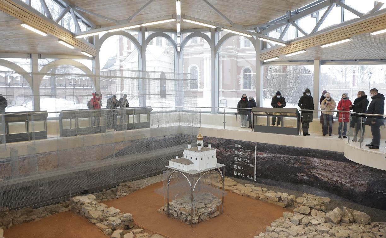 В Тульском кремле открылось археологическое окно: фоторепортаж