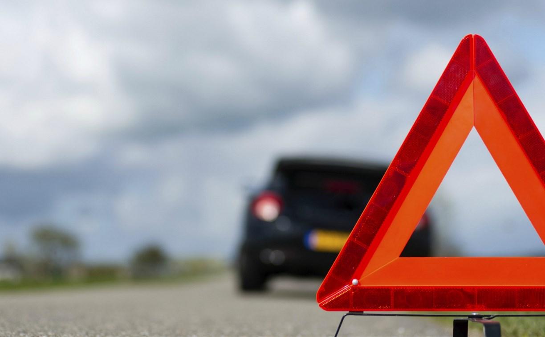 На Калужском шоссе в Туле машина ДПС столкнулась с внедорожником