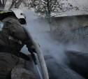 В Туле на теплотрассе горит мусор