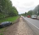 В Венёвском районе Ford Focus протаранил пассажирский автобус