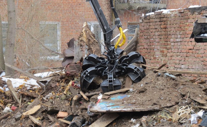 В Туле сносят бесхозные объекты