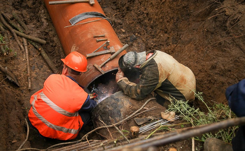 В Туле на водозаборе меняют изношенный участок трубопровода: фоторепортаж